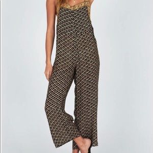 Printed jumpsuit/overalls